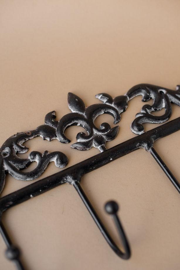 Винтажная вешалка из металла на 4 крючка