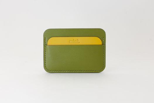 Кошелек кардхолдер Cardholder зеленый/желтый