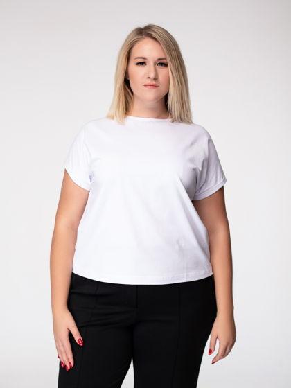 Белая футболка из премиального трикотажа