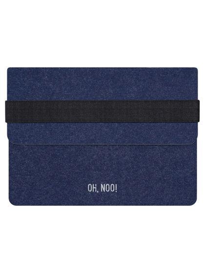 Чехол из фетра для iPad и планшетов, синий, горизонтальный с крышкой