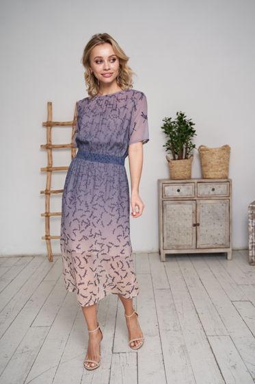 Платье из натурального шелка шифона Splensilk