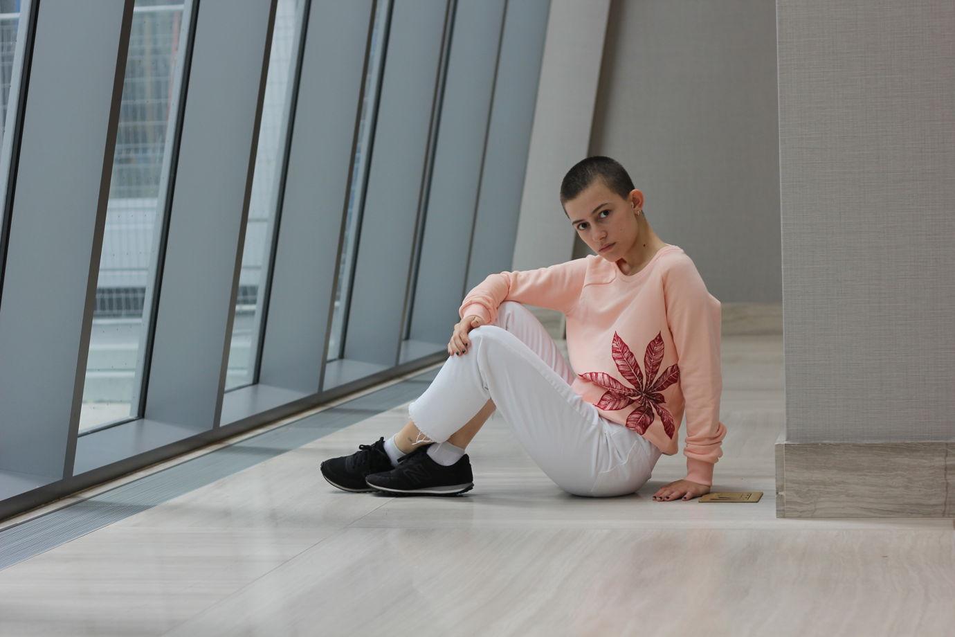 """Розовый женский свитшот с принтом """"Red Fern"""""""