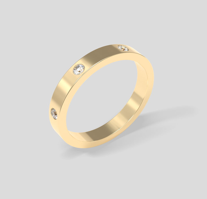 Покрытое золотом кольцо Armonia