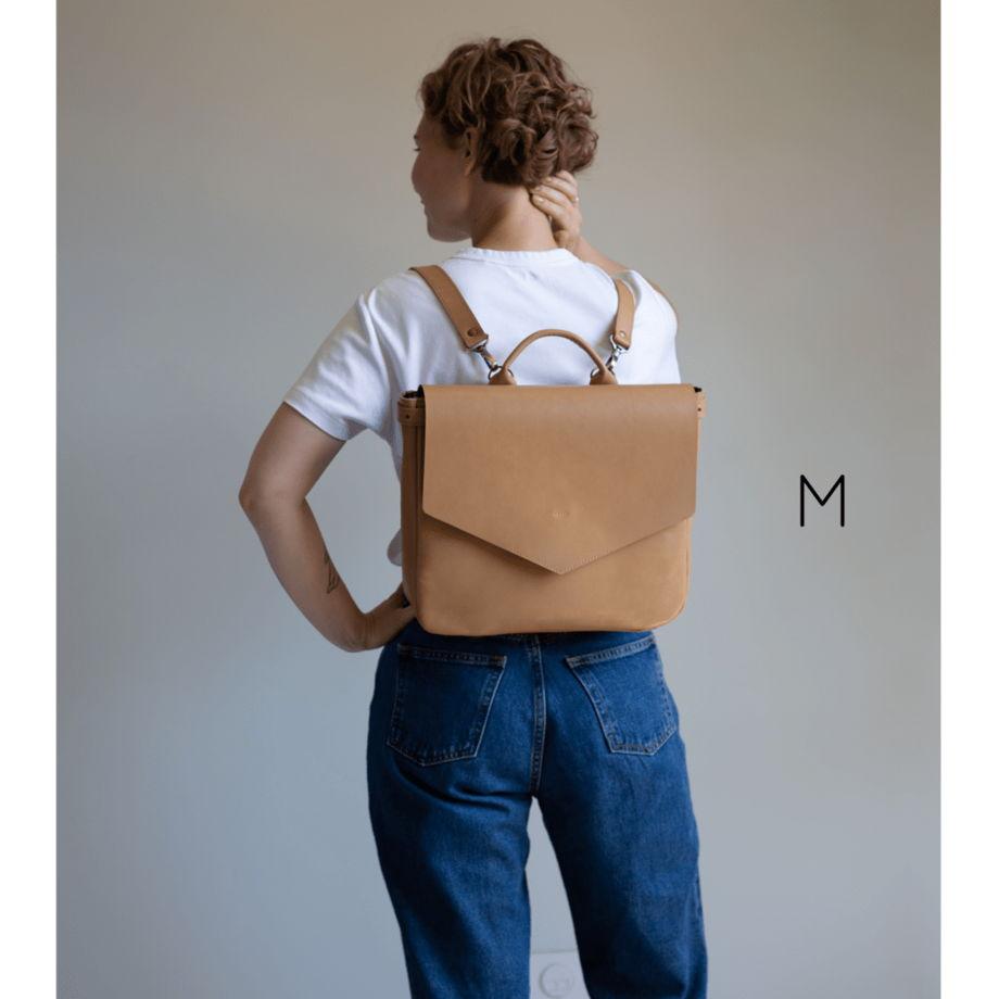 Кожаный рюкзак-портфель Nude