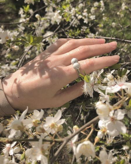 Кольцо с кахолонгом Hanami Dango
