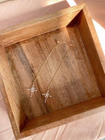 Серьги с крестом из фианитов Earrings Delia