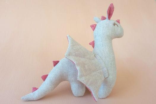 """Льняная игрушка ручной работы """"Дракон"""""""