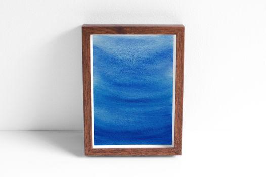 """Акварельный рисунок """"Глубоко-синее №1"""""""