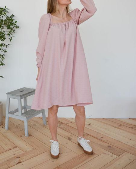 Платье с квадратным вырезом из вискозы Candice