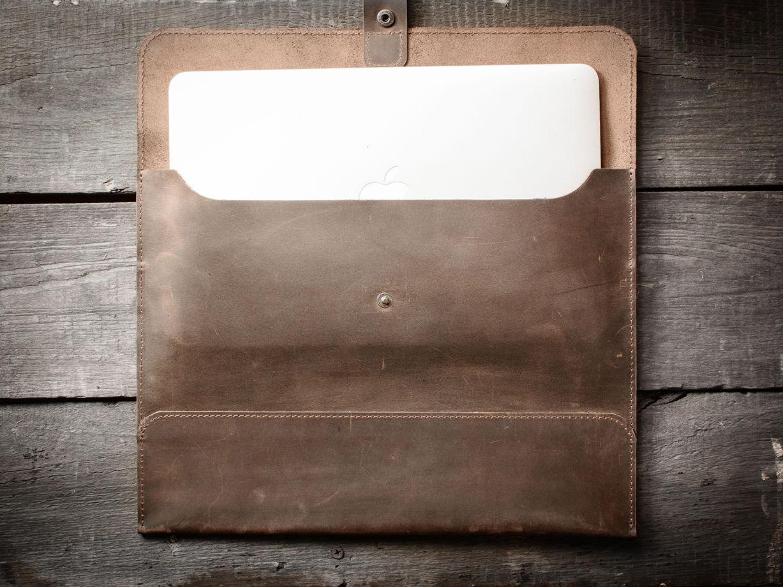 Папка для документов А4 / Чехол для MacBook 13` -SOLID- цвет Шоколад