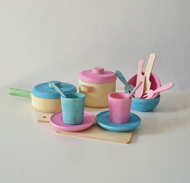 Большой набор посуды Пастель