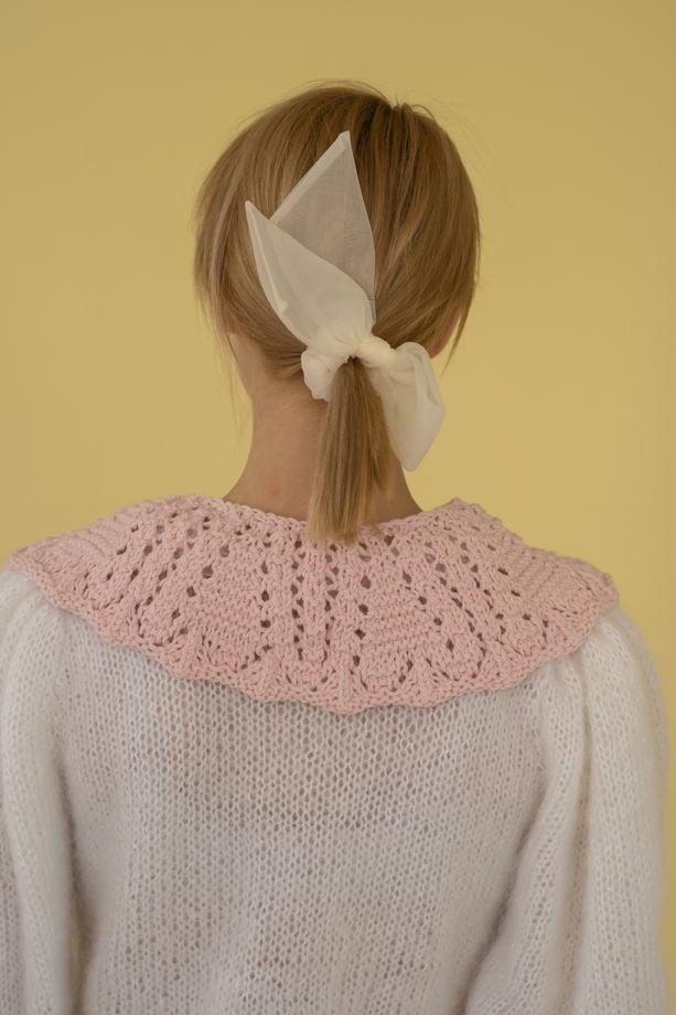 """Розовый воротничок из хлопка с декоративными кисточками """"Dream"""""""