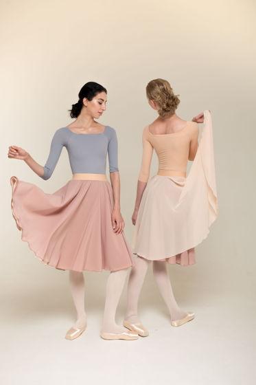 B9 (двусторонняя репетиционная юбка) для танцев / хореографии