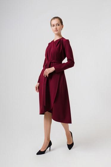 Платье-кардиган V.J. бордовое