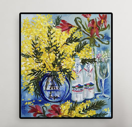 "Картина ""Цветы. Мимоза"" холст, масло"