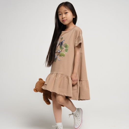 Трикотажное платье «Мопс»