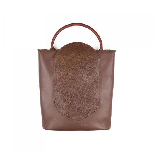 Кожаный рюкзак-сумка Arc Chocolate