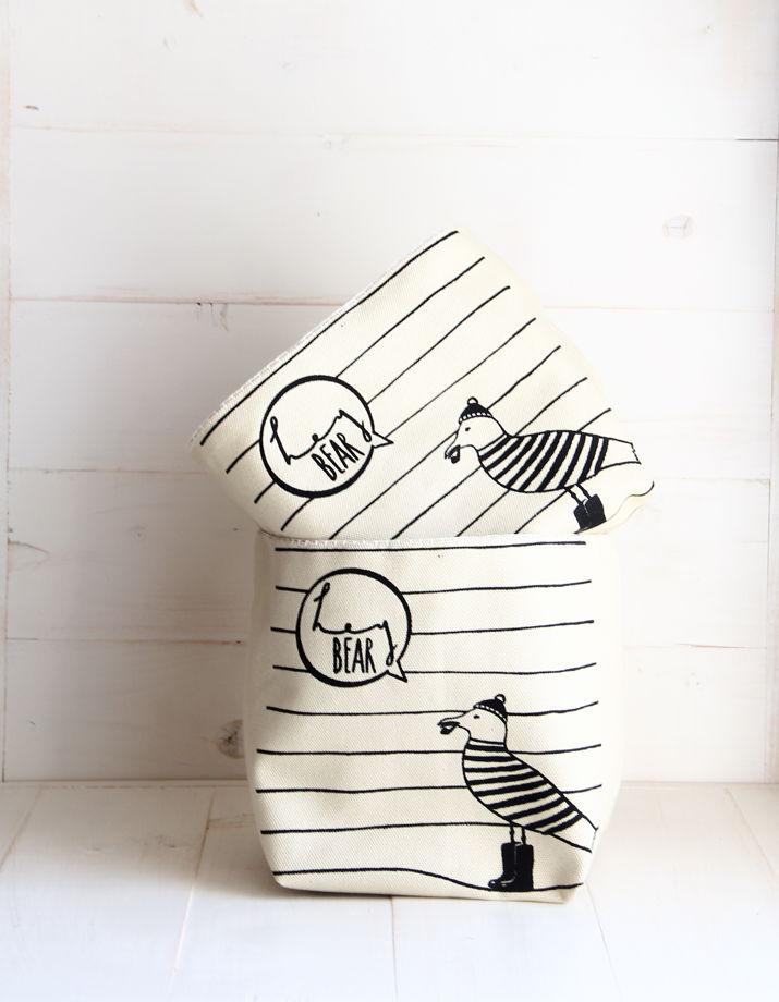 Текстильная корзина для хранения Hey Bear
