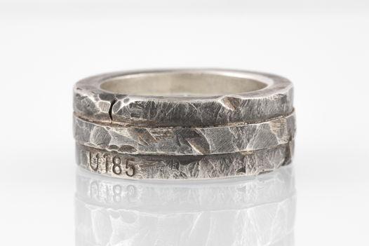 Тройное серебряное кольцо