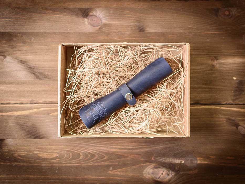 Кожаный коврик для мыши -SLIDE- цвет Синий Океан