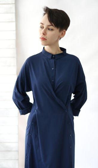 Платье рубашка трансформер | синий