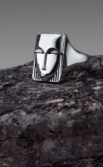 Серебряное кольцо Totem