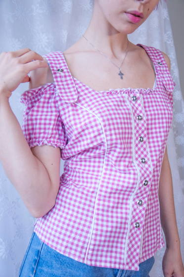 Винтажная блузка в баварском стиле