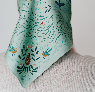 Шелковый платок сариола 65х65
