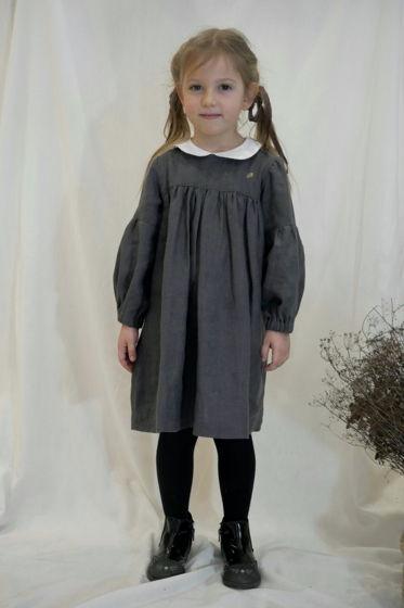 Льняное платье в винтажном стиле