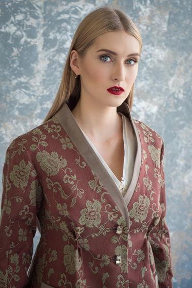 Жакет в стиле кимоно