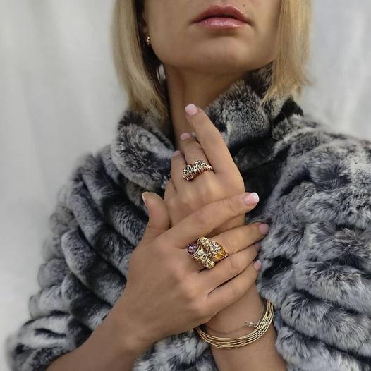 Кольцо «Лиана» из золота GF 14 карат