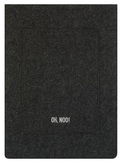Чехол из фетра для MacBook и ноутбуков, черный, вертикальный