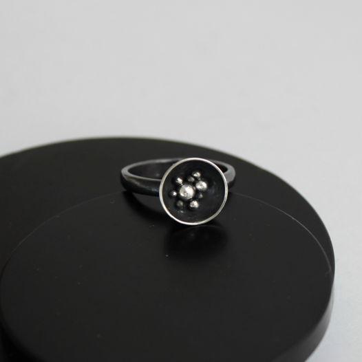 Кольцо Космос из серебра
