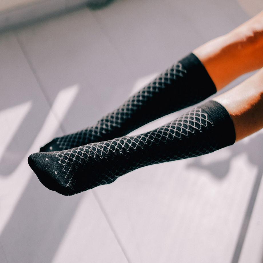 Носки в форме рыбы DOIY Fish Socks - Black