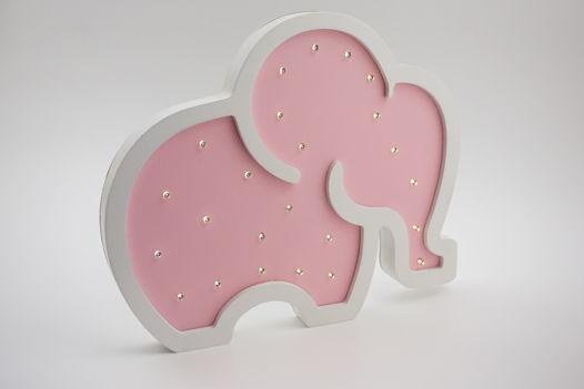"""Светильник-ночник """"Слоненок""""  Розовый"""