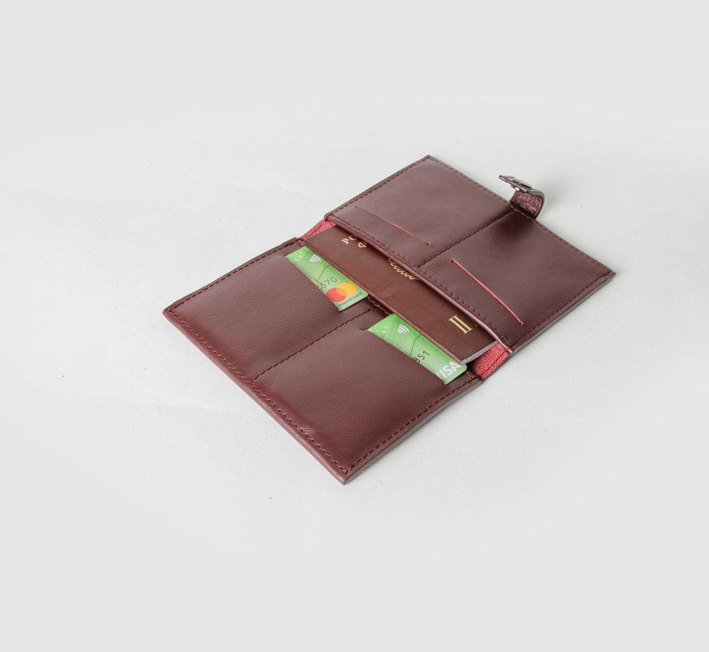 Портмоне для документов (под паспорт) из натуральной кожи арт.p1