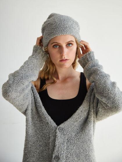 Серая шапка из альпаки Cinza