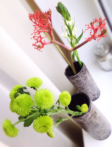 Керамическая ваза черная
