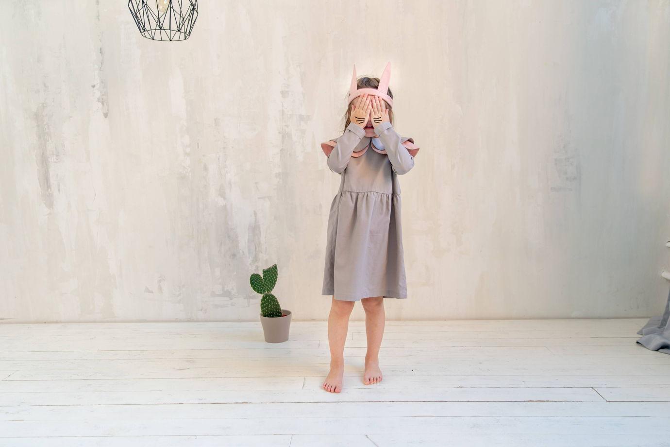 Повязка-ободок Зайка цвет розовый, серый