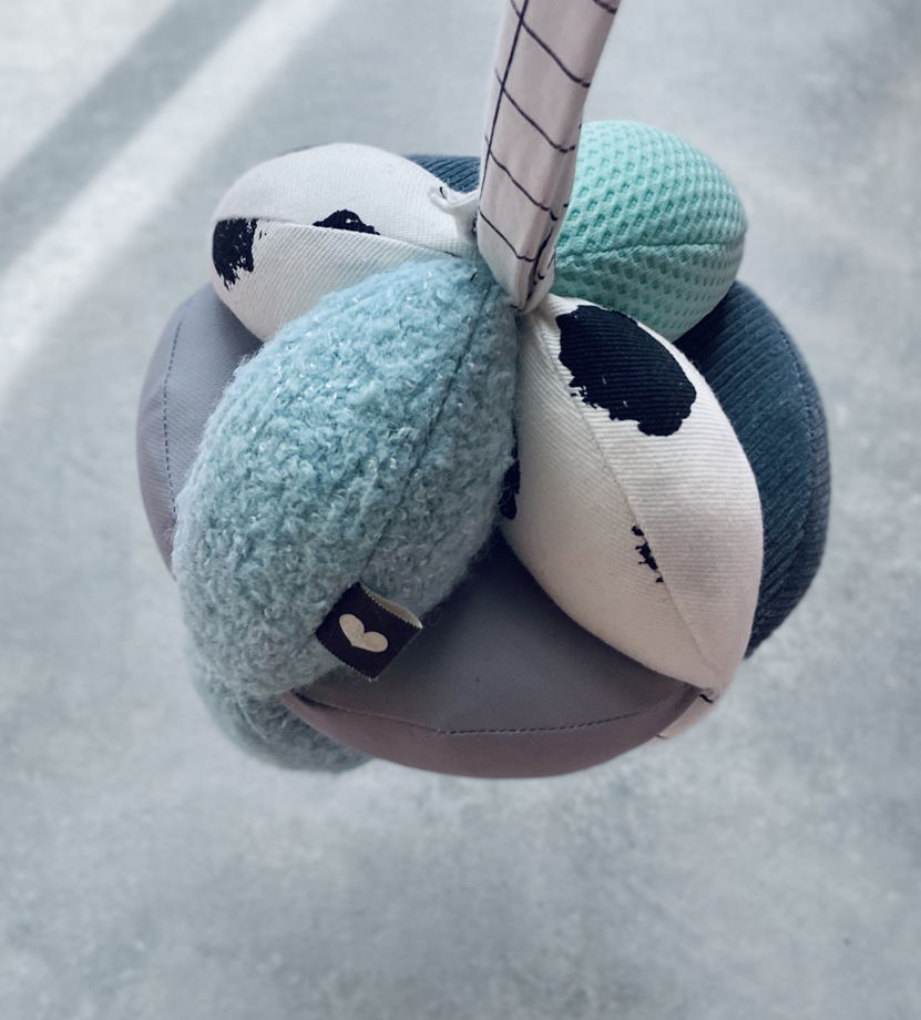"""мяч Такане  разнофактурный BYYY  """"MULTY GRAY BLUE"""""""