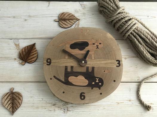 Часы с котиками