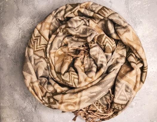 Теплый Шарф-Плед из 100%ной овечьей шерсти из Гималаев