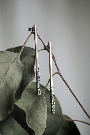 Серьги - палочки фактурные