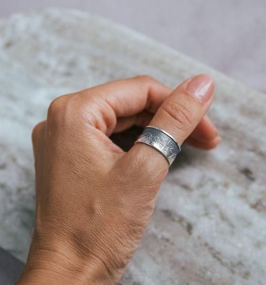 Серебряное кольцо Горы