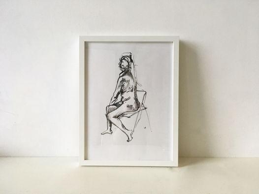 'Nude n2' - композиция тушью 30х40