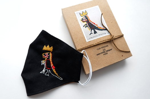 Маска защитная с вышивкой Дракон по картине Жана-Мишель Баския