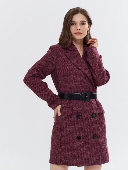 Платье жакет бордовое