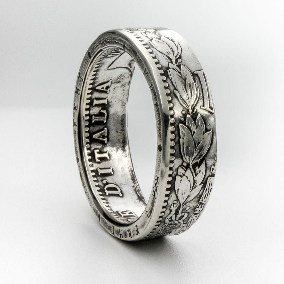 Кольцо из монеты - Италия 2 лиры