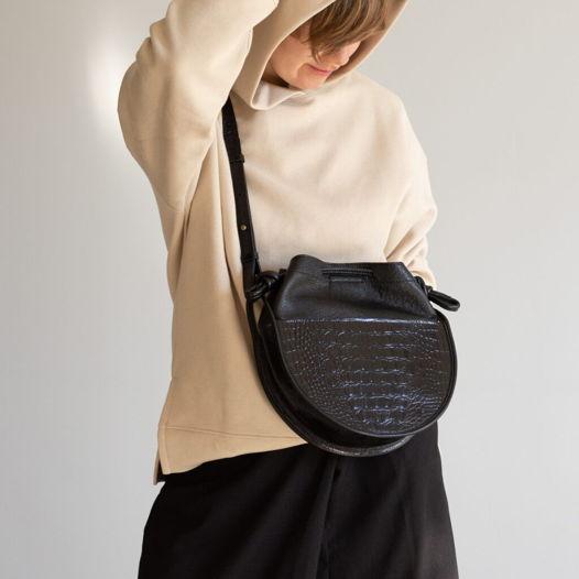 Кожаная сумка Loop Black