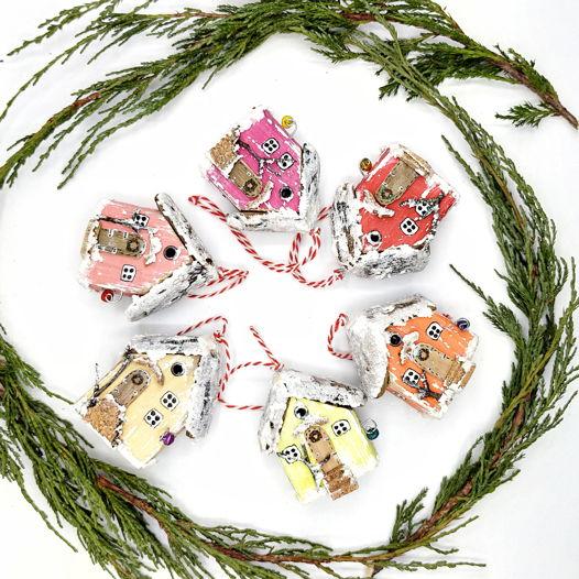 Мини-домики для новогодней ёлки.